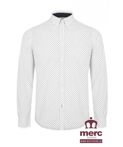 Koszula z długim rękawem MERC LONDON SIEGEL biała