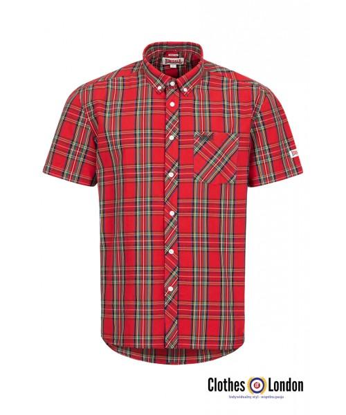 Koszula z krótkim rękawem LONSDALE LONDON Brixworth czerwona