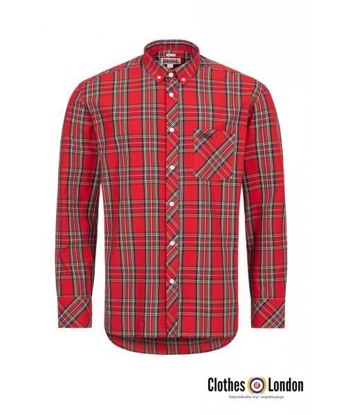Koszula z długim rękawem LONSDALE LONDON Royal Steward czerwona