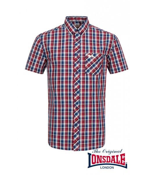 Koszula z krótkim rękawem LONSDALE LONDON KABER czerwona