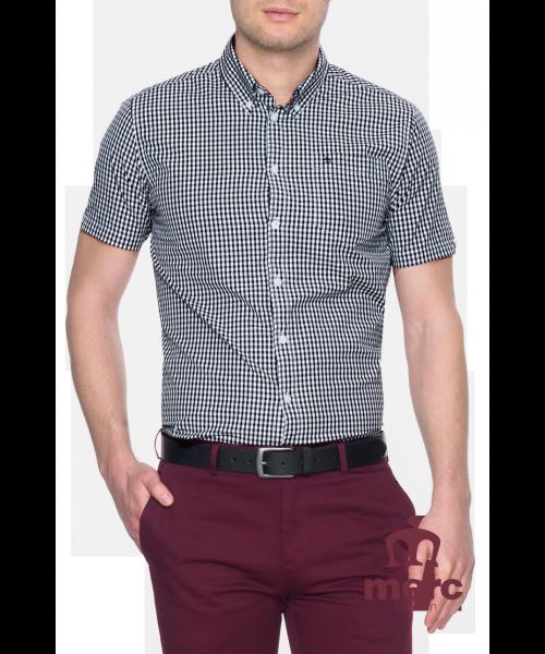Koszula z krótkim rękawem Merc London Terry Czarno-Biała