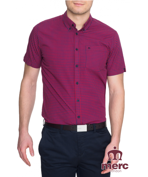 Koszula z krótkim rękawem MERC LONDON TERRY - Czerwona
