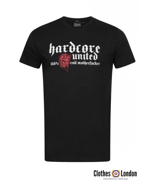 T-shirt HARDCORE UNITED 666% czarny