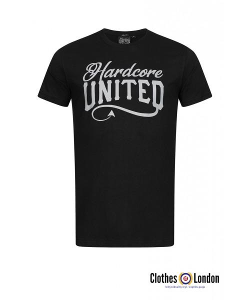 T-shirt HARDCORE UNITED REFLECT czarny