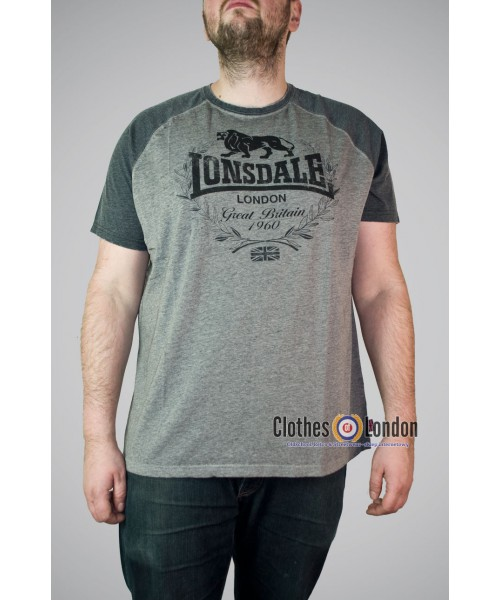 T-shirt LONSDALE LONDON NEWMILL szara