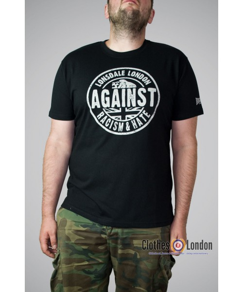 T-shirt Lonsdale London AGAINST RACISM czarna
