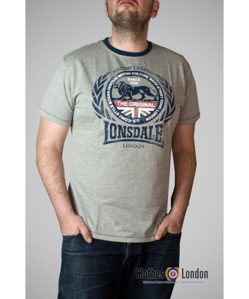 T- Shirt LONSDALE LONDON MARL DARVIN szary