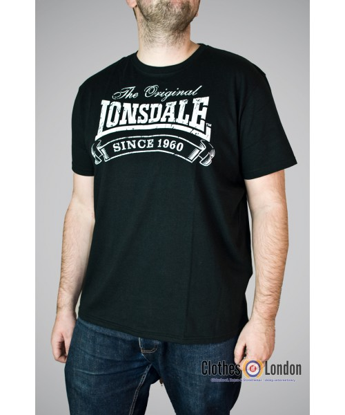 T-shirt Lonsdale London Martock Czarny