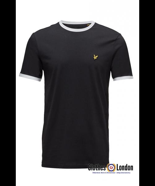 T-Shirt LYLE & SCOTT RINGER czarno-biała
