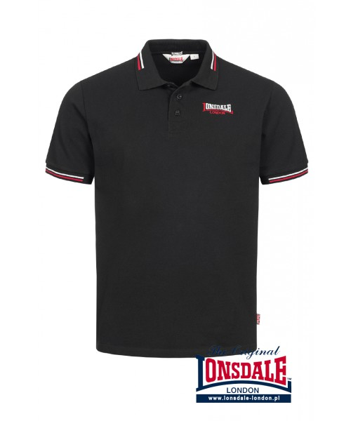Koszulka Polo LONSDALE LONDON WINSTANLEY czarna