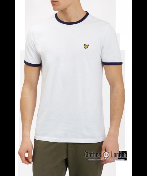 T-Shirt LYLE & SCOTT RINGER Biała