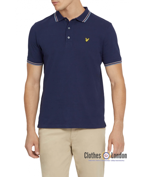 Koszulka polo LYLE & SCOTT TIPPED Granatowa