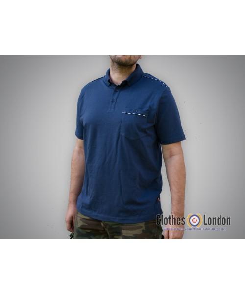 Koszulka Polo Merc London Outlaw Granatowy