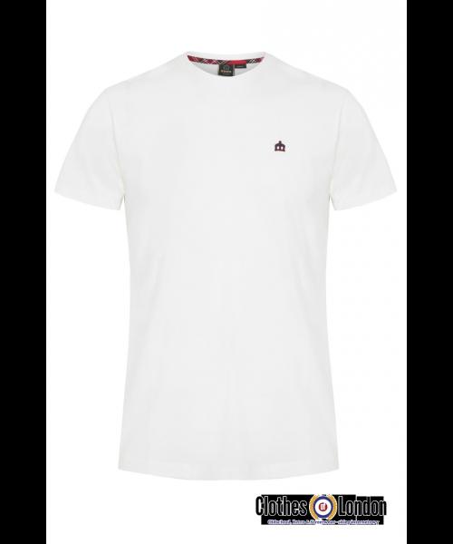 T-shirt MERC LONDON KEYPORT biały