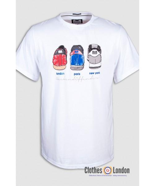 T- Shirt WEEKEND OFFENDER HEELS biały