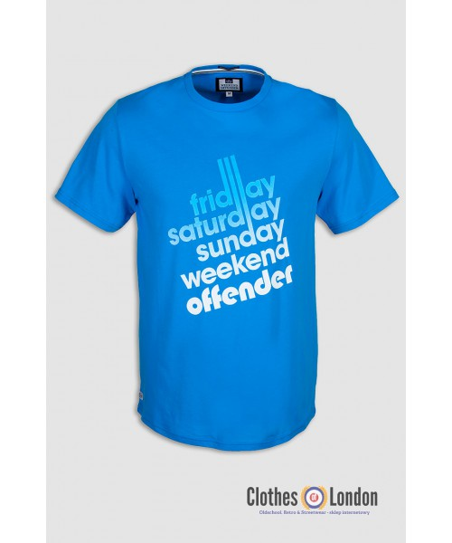 T- Shirt WEEKEND OFFENDER  SIXTY HOURS niebieski