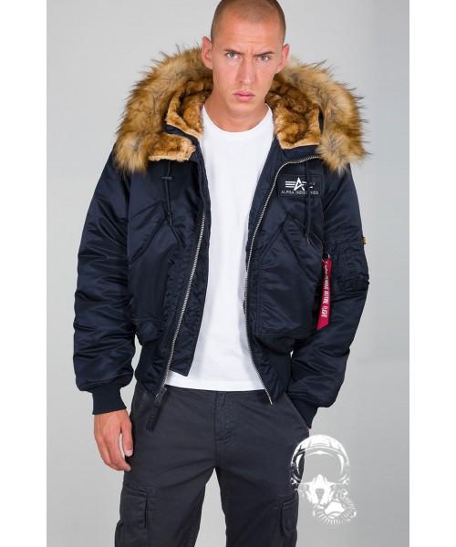 Kurtka zimowa ALPHA INDUSTRIES N2B 45P Hooded Custom Granatowa