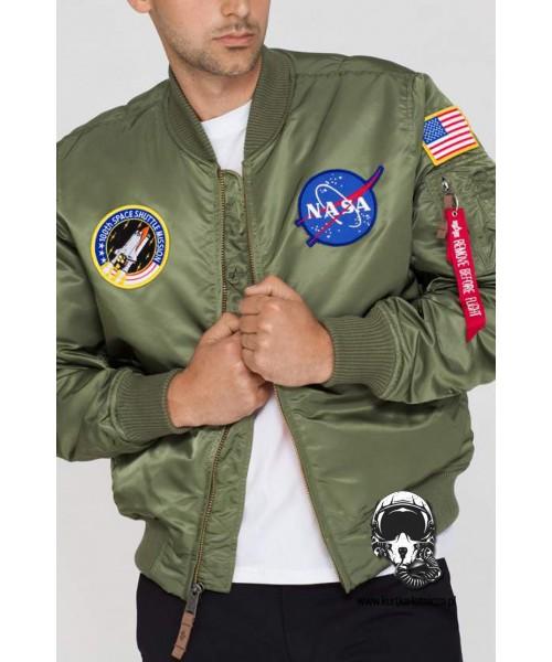 Kurtka ALPHA INDUSTRIES MA 1 VF NASA oliwkowa