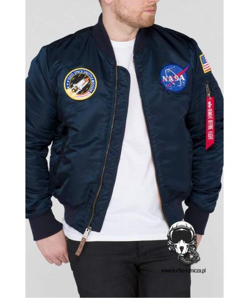 Kurtka ALPHA INDUSTRIES MA 1 VF NASA granatowa