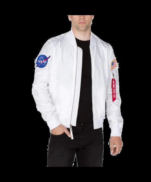 Kurtka ALPHA INDUSTRIES MA 1 TT NASA REVERSIBLE biała