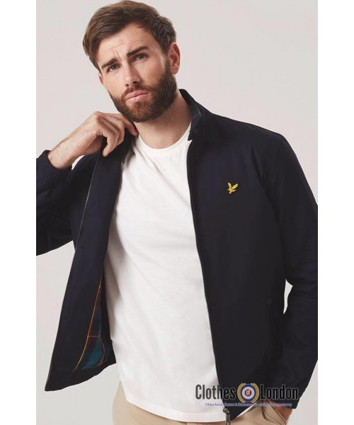 Kurtka harringtonka LYLE & SCOTT granatowa