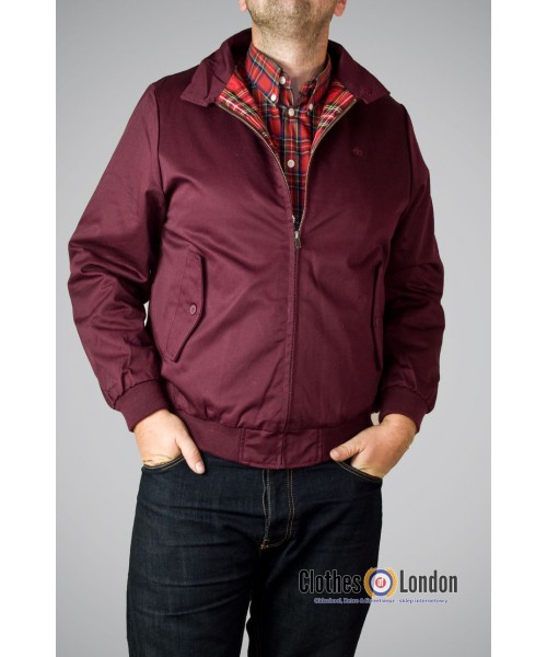 Kurtka Harringtonka Merc London Harrington Bordowa