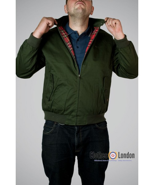 Kurtka Harringtonka Merc London Harrington Zielona