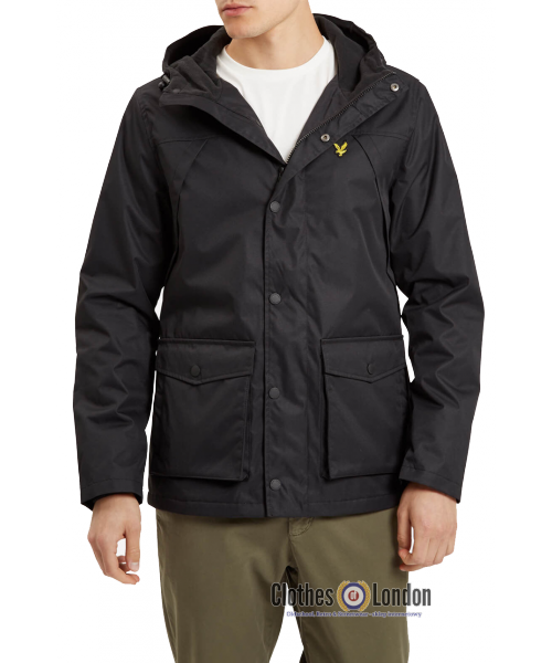 Kurtka LYLE & SCOTT MICROFLEECE LINED JACKET czarna
