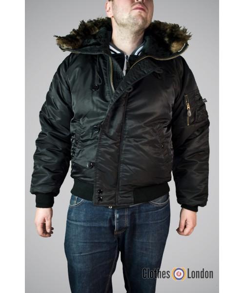 Zimowa kurtka Alaska N2B Max Fuchs Czarna