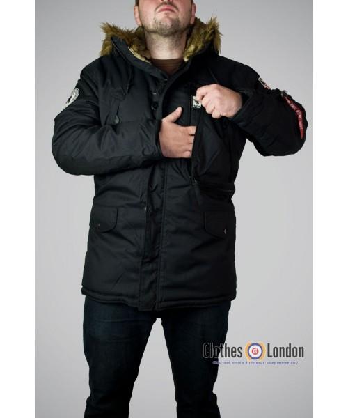 Kurtka zimowa parka Alpha Industries Polar Jacket Czarna