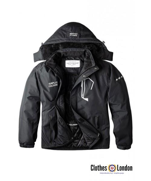 Zimowa kurtka z odczepianym kapturem SURPLUS STAR czarna
