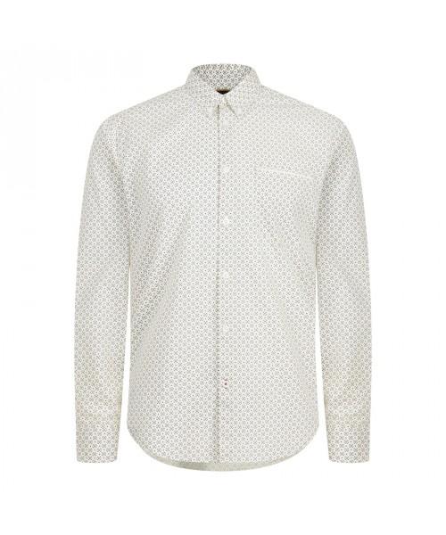 Koszula z długim rękawem MERC LONDON LOUTH biała