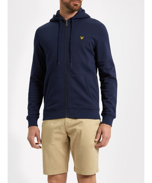 Rozpinana bluza z kapturem LYLE&SCOTT ZIP THROUGH HOODIE granatowa