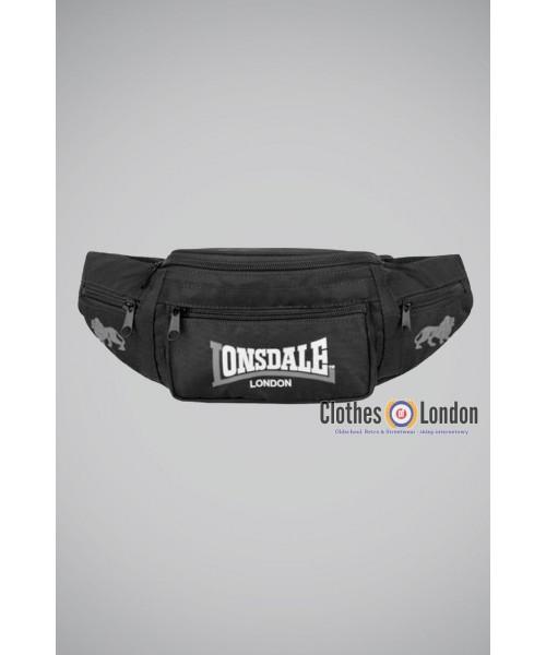 Torba na pasku (Nerka) Lonsdale London Logo Czarno-Szara