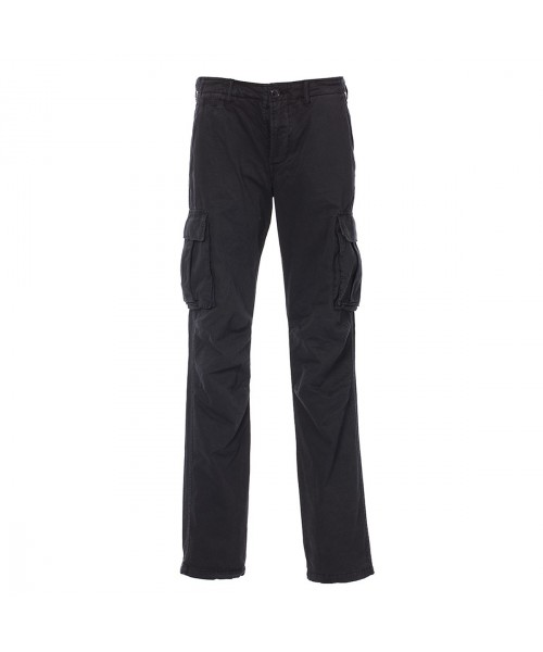 Spodnie bojówki  HARRINGTON CARGO PANTALONS czarne