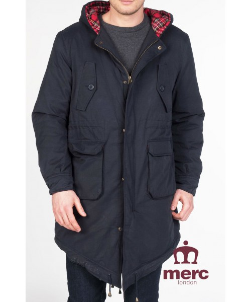 Parka Fishtail Merc London Tobias Granatowa