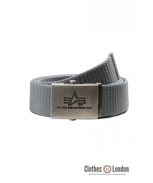 Pasek materiałowy z metalową klamrą Alpha Industries Srebrny