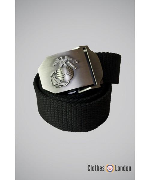 Pasek z metalową klamrą Max Fuchs Eagle Czarny