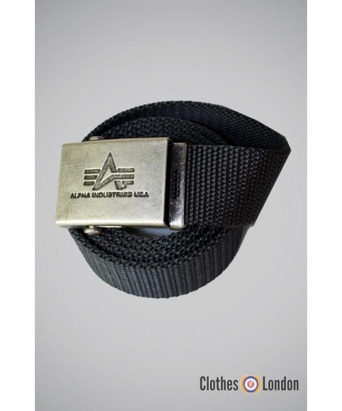 Pasek materiałowy z metalową klamrą Alpha Industries Szary