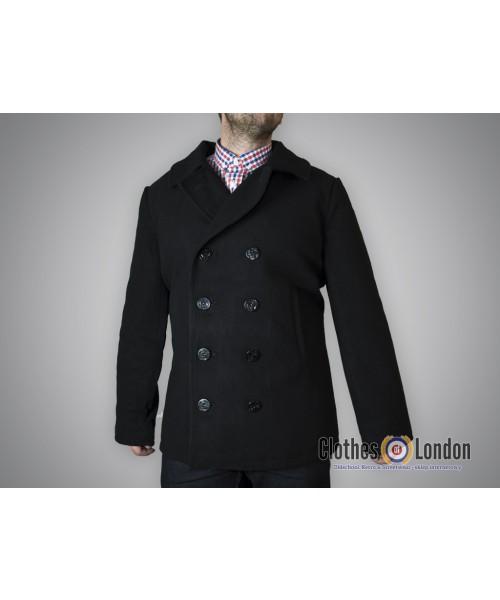 """Płaszcz """"Bosmanka"""" dwurzędowy Alpha Industries PEA USN Coat Czarny"""