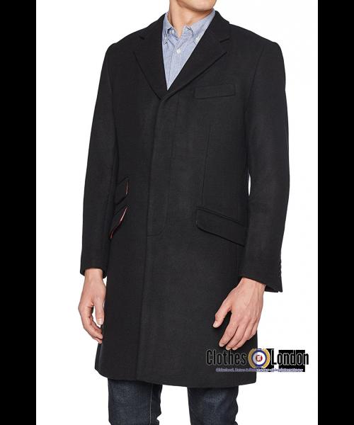 Płaszcz CROMBIE MERC LONDON WALESBY Czarny
