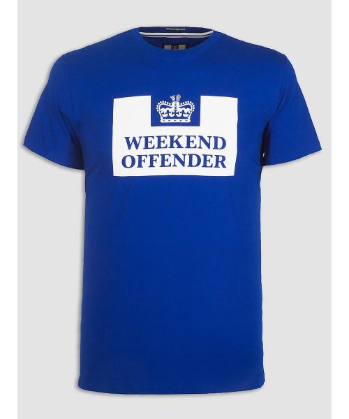 T-shirt WEEKEND OFFENDER PRISON niebieska