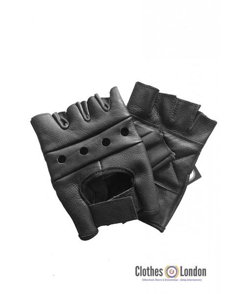 Skórzane rękawiczki rowerowe bez palców MAX FUCHS