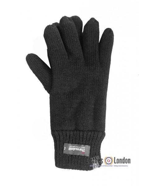 Rękawiczki z materiału MAX FUCHS Thinsulate™ Czarne