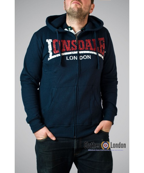 Rozpinana bluza z kapturem Lonsdale London Knowstone