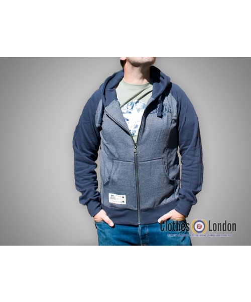 Rozpinana bluza z kapturem Lonsdale London Slough Granatowa