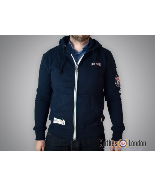 Rozpinana bluza z kapturem Lonsdale London Watford Granatowa