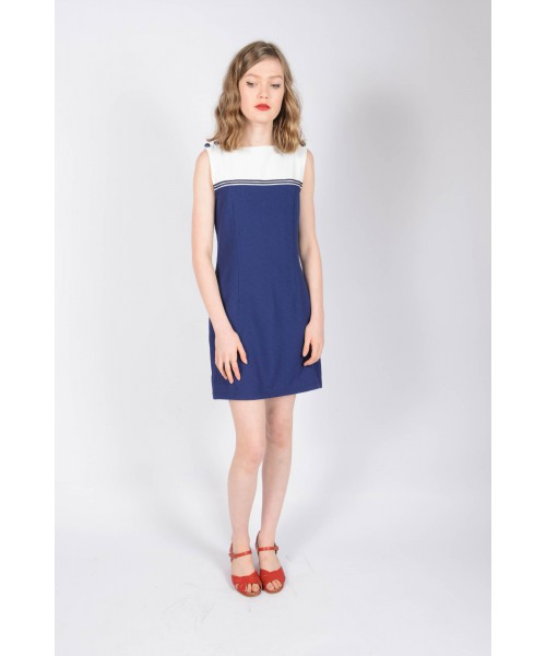 Sukienka POP BOUTIQUE SAILOR DRESS granatowa