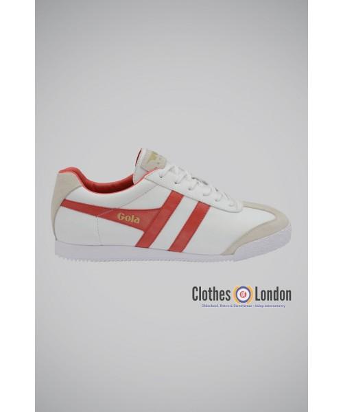 Skórzane buty GOLA HARRIER TRAINERS biało-czerwone