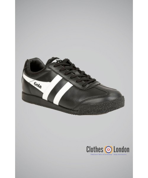 Skórzane buty Gola Harrier Leather czarno-białe